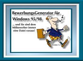 der bewerbungsgenerator fr windows 9598 setzt ihre persnlichen daten und ihr bewerbungsfoto sekundenschnell in ein ansprechendes format um - Bewerbung Generator